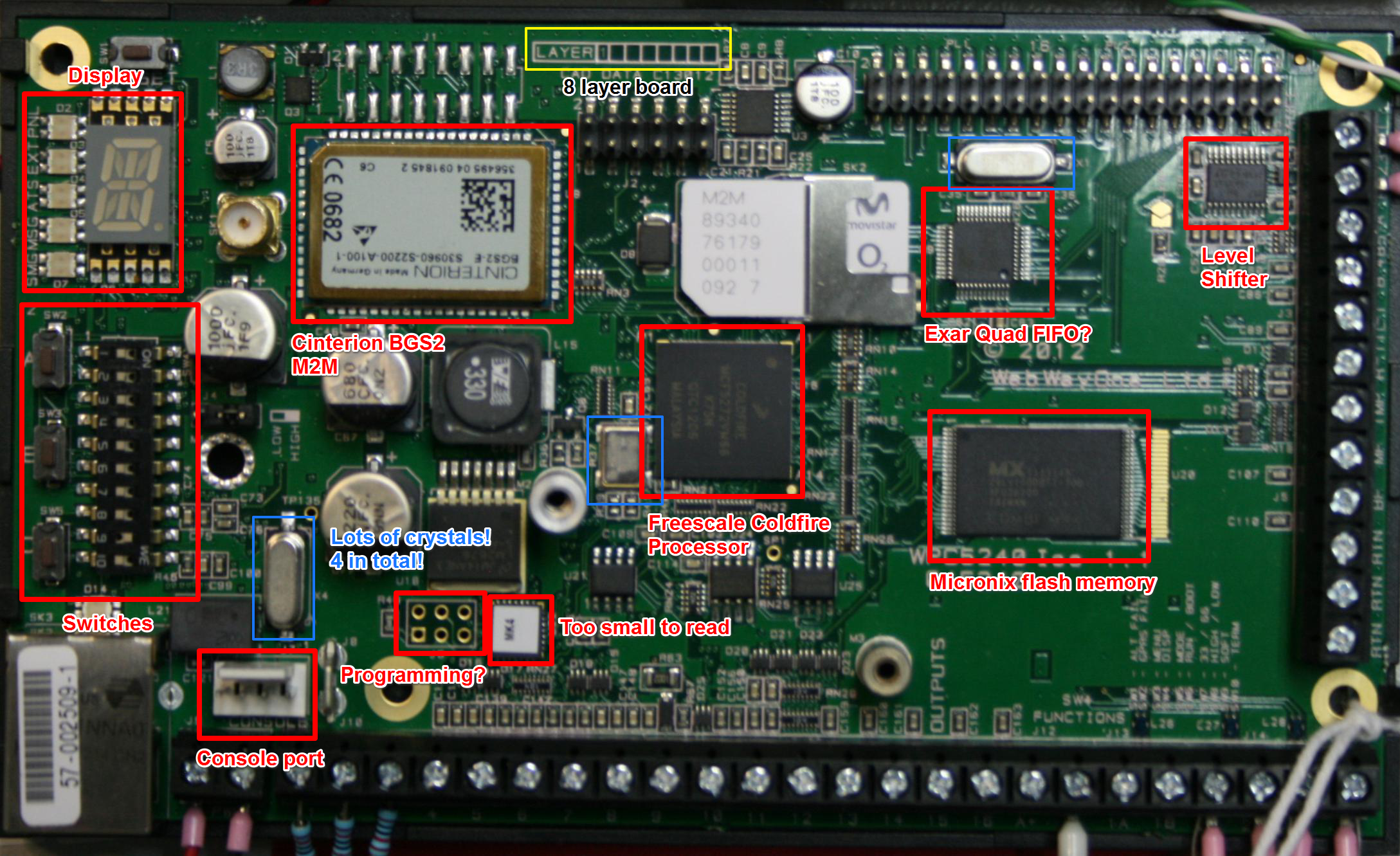 Alarms Wiring Adt Bell Box Annotated Pcb