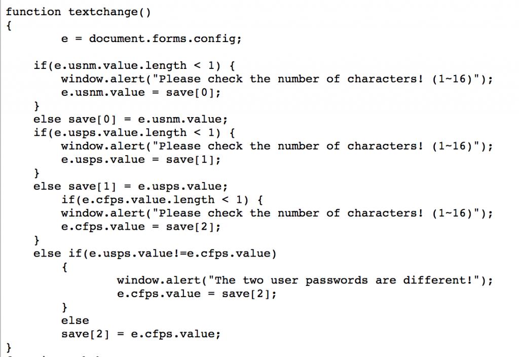 JS input checks