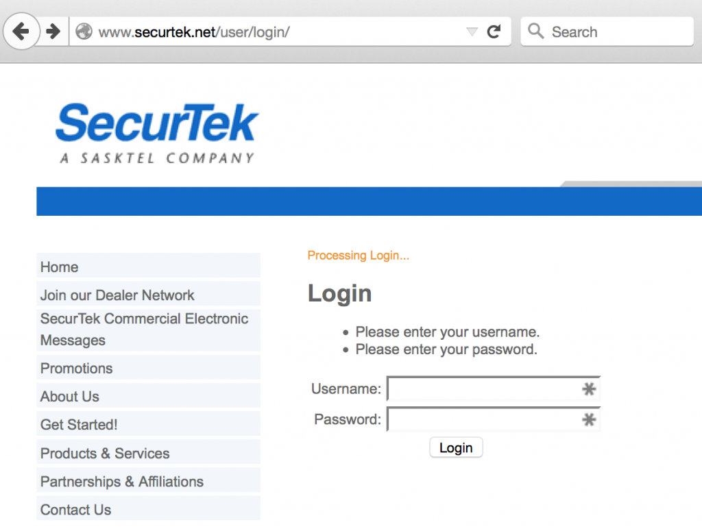 No HTTPS